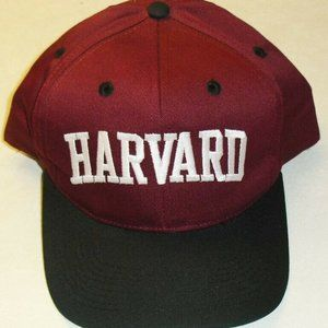 Harvard Crimson Vintage 90s Snapback hat NCAA New!